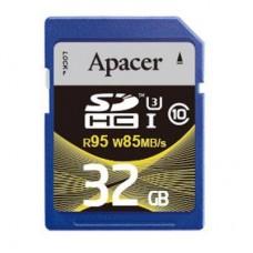 Карта памяти Apacer 32GB SDHC UHS-I 95/85 U3 Class10 (AP32GSDHC10U4-R)