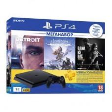 Игровая консоль SONY PlayStation 4 1TB HZD+DET+TLOU+PSPlus 3М (CUH-2208B)