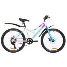 "Велосипед Discovery 24"" FLINT DD рама-14"" 2019 бело-голубой с розовым (OPS-DIS-24-124)"