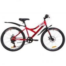 """Велосипед Discovery 24"""" FLINT DD рама-14"""" 2019 красно-белый с черным (OPS-DIS-24-122)"""