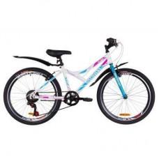 """Велосипед Discovery 24"""" FLINT Vbr рама-14"""" 2019 бело-голубой с розовым (OPS-DIS-24-134)"""