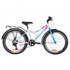 "Велосипед Discovery 24"" FLINT MC Vbr рама-14"" 2019 бело-голубой с розовым (баг.) (OPS-DIS-24-129)"