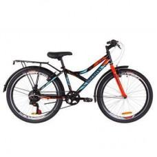 "Велосипед Discovery 24"" FLINT MC Vbr рама-14"" 2019 черно-синий с оранжевы (баг.) (OPS-DIS-24-126)"