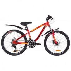 "Велосипед Discovery 24"" FLINT AM DD рама-13"" 2019 красно-оранжевый (OPS-DIS-24-112)"