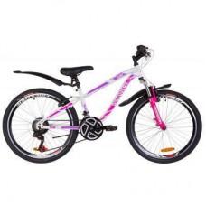 "Велосипед Discovery 24"" FLINT AM Vbr рама-13"" 2019 бело-малиновый (OPS-DIS-24-119)"