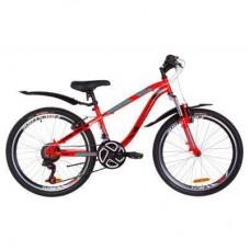 """Велосипед Discovery 24"""" FLINT AM Vbr рама-13"""" 2019 красно-бирюзовый с черным (OPS-DIS-24-120)"""
